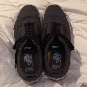 Men's vans size 10 used dark gray .